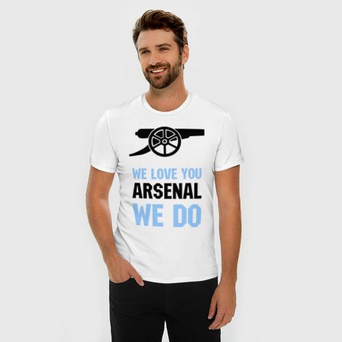Мужская футболка премиум  Фото 03, we love you arsenal we do
