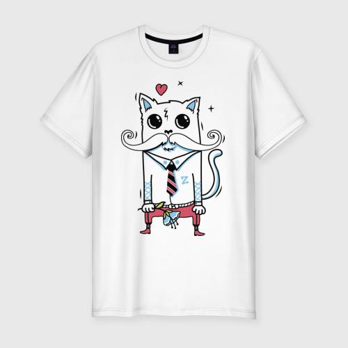 Мужская футболка премиум  Фото 01, Кот на выданье