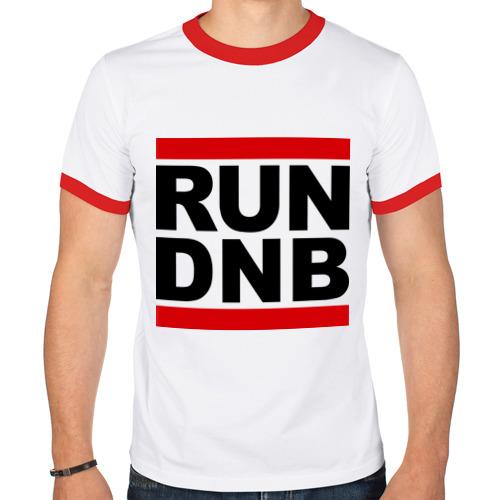 Мужская футболка рингер  Фото 01, RUN DNB