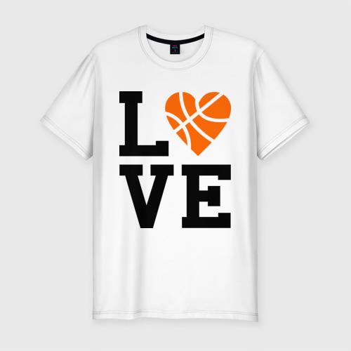 Мужская футболка премиум  Фото 01, Моя любовь - баскетбол