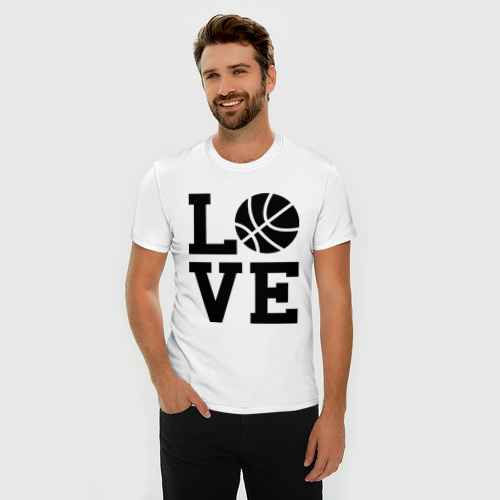 Мужская футболка премиум  Фото 03, Влюблен в баскетбол