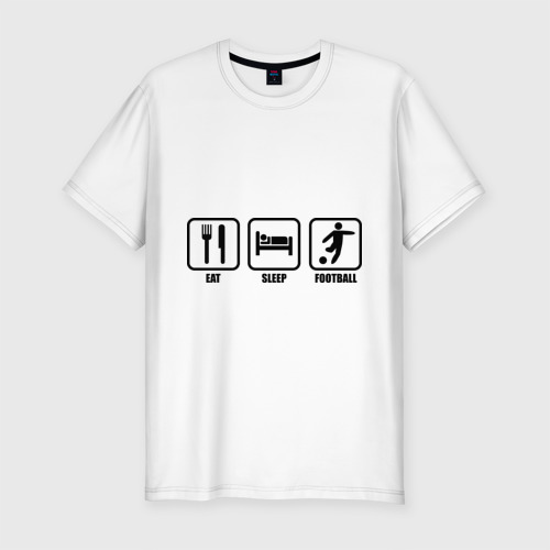 Мужская футболка премиум  Фото 01, Eat Sleep Football (Еда, Сон, Футбол)