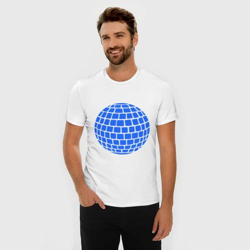 Мужская футболка премиум  Фото 03, Зеркальный шар