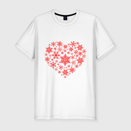 Мужская футболка премиум  Фото 01, Снежное сердце