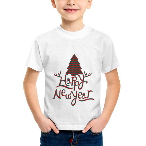 Детская футболка синтетическая Счастливого нового года от Всемайки