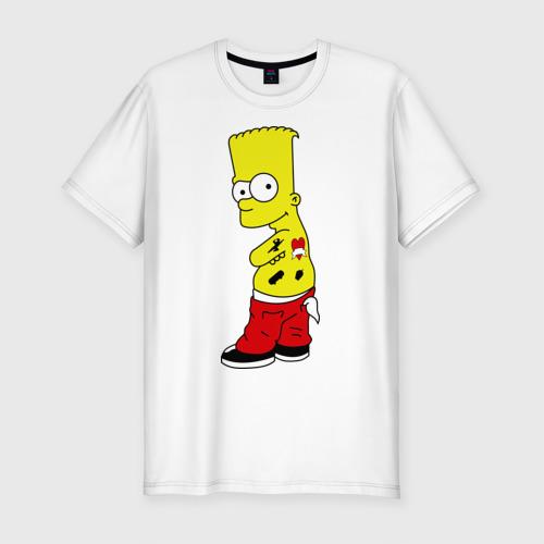 Мужская футболка премиум  Фото 01, Барт в татуировках