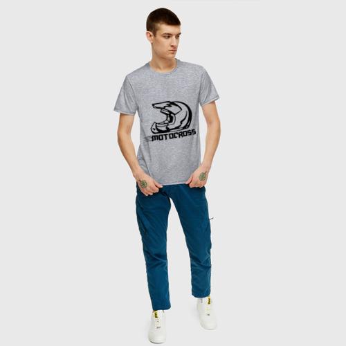 Мужская футболка хлопок Motocross Фото 01