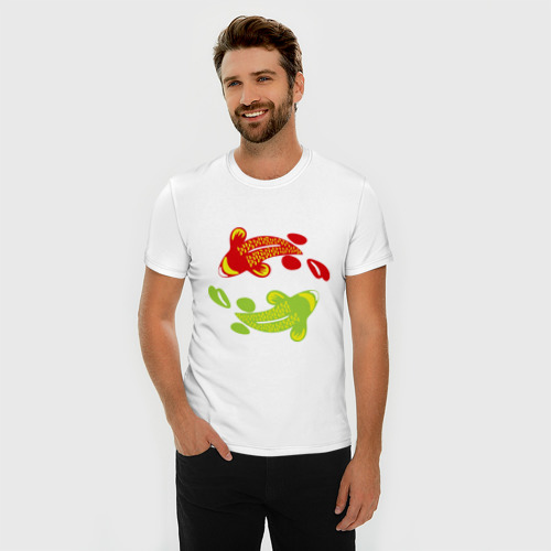 Мужская футболка премиум  Фото 03, Рыбы фен-шуй