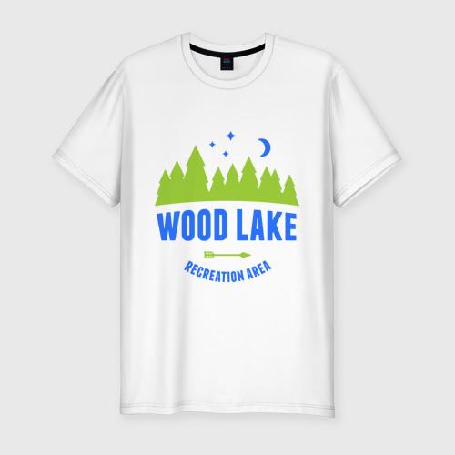 Мужская футболка премиум  Фото 01, Лес - территория отдыха