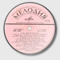 Пластинка «Мелодия»