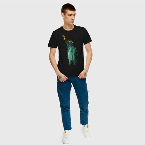 Мужская футболка хлопок Статуя свободы Фото 01