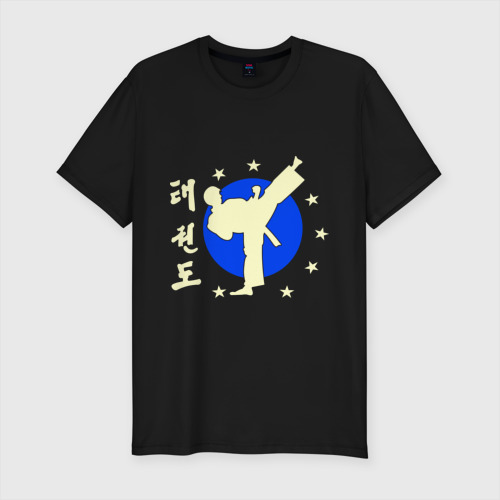 Мужская футболка премиум  Фото 01, Taekwondo (Тхэквондо) glow