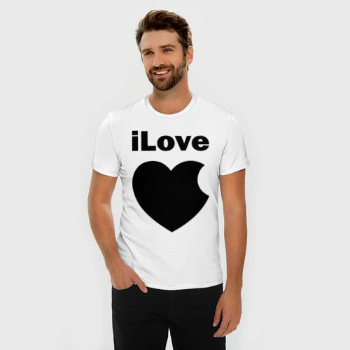 Мужская футболка премиум  Фото 03, iLove