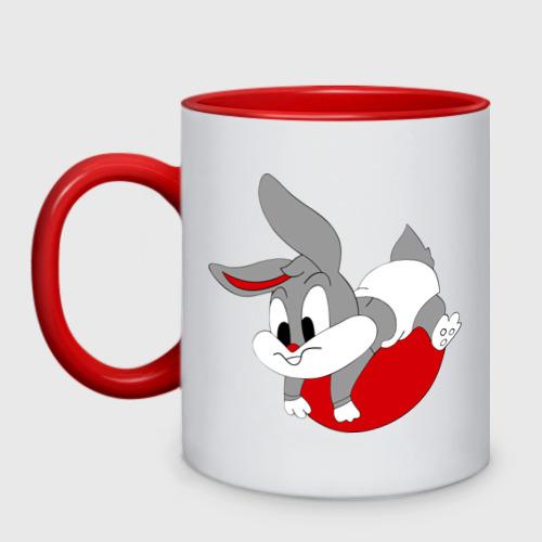 Кружка двухцветная заяц
