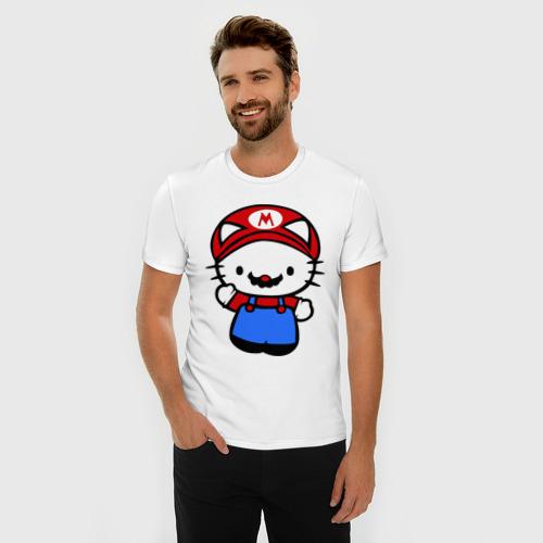 Мужская футболка премиум  Фото 03, Kitty Mario
