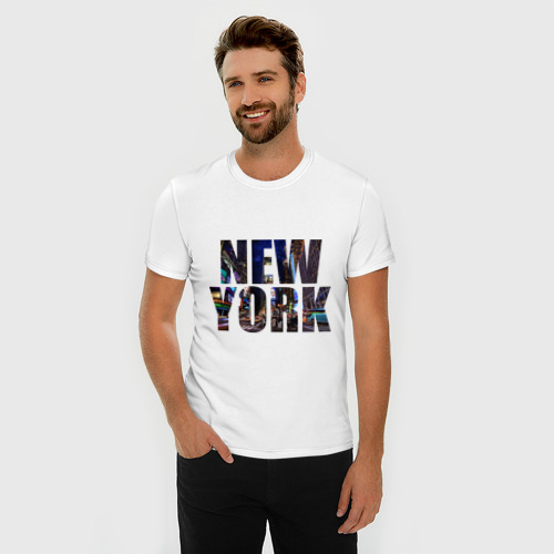 Мужская футболка премиум  Фото 03, New york