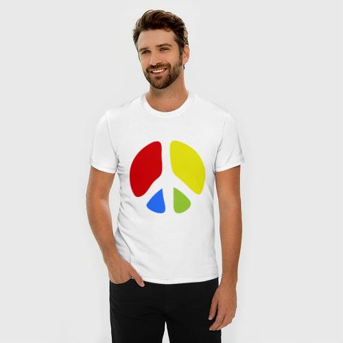 Мужская футболка премиум  Фото 03, Значок пацифистов