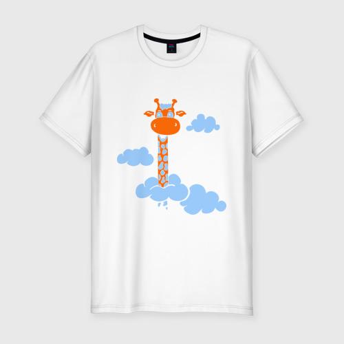 Мужская футболка премиум  Фото 01, Жираф в облаках