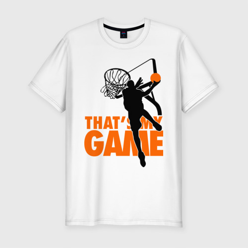 Мужская футболка премиум  Фото 01, Баскетбол моя игра