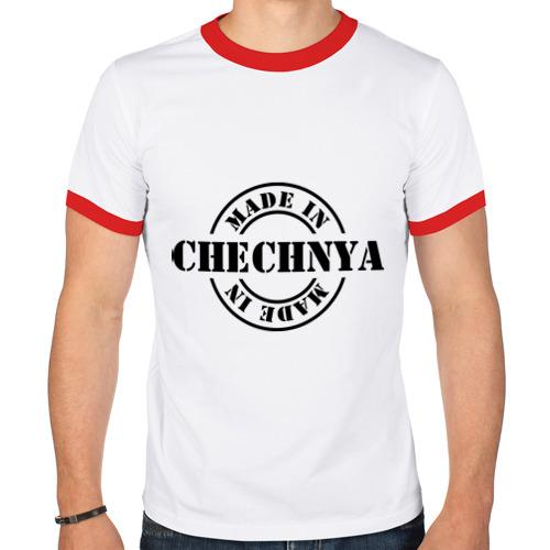 Мужская футболка рингер  Фото 01, Made in Chechnya (сделано в Чечне)