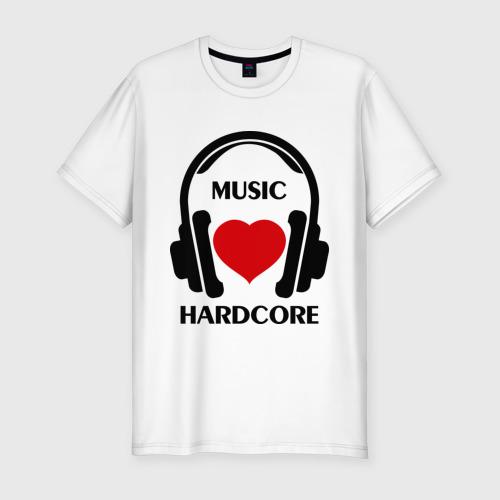 Мужская футболка премиум  Фото 01, Любимая музыка - Hardcore