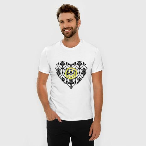 Мужская футболка премиум  Фото 03, Шерлок Сердце и Смайлик