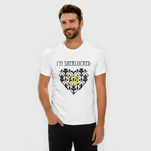 Мужская футболка премиум  Фото 03, Шерлок Сердце I'm Sherlocked