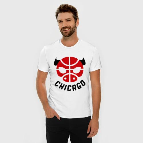 Мужская футболка премиум  Фото 03, Chicago bull