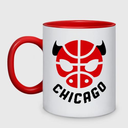 Кружка двухцветная Chicago bull