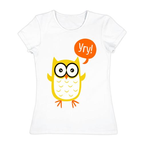 Женская футболка хлопок  Фото 01, Угу!
