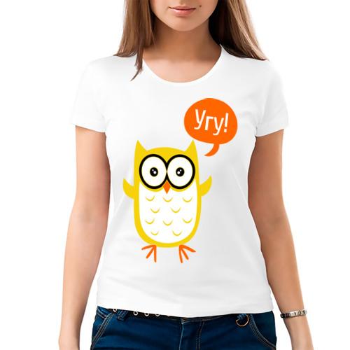 Женская футболка хлопок  Фото 03, Угу!