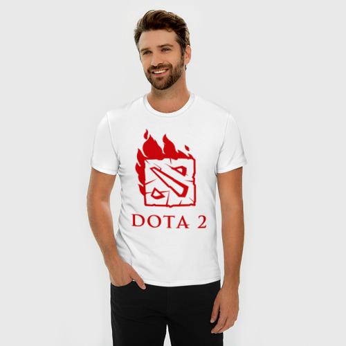 Мужская футболка премиум  Фото 03, Dota 2 в огне