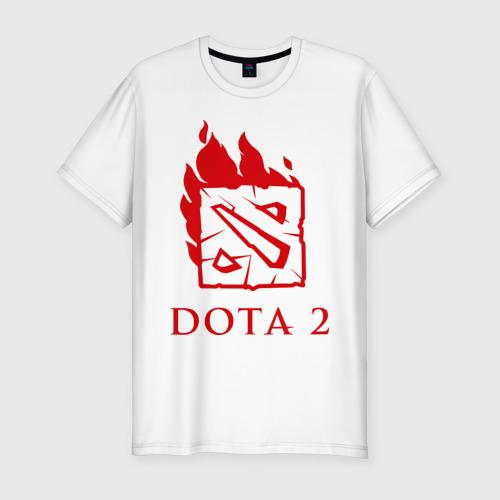 Мужская футболка премиум  Фото 01, Dota 2 в огне