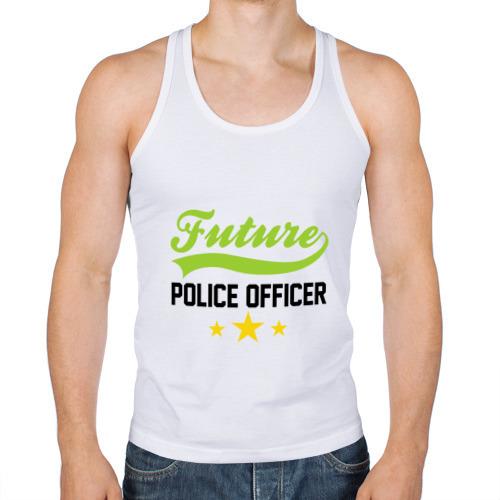 Мужская майка борцовка  Фото 01, Будущий офицер полиции