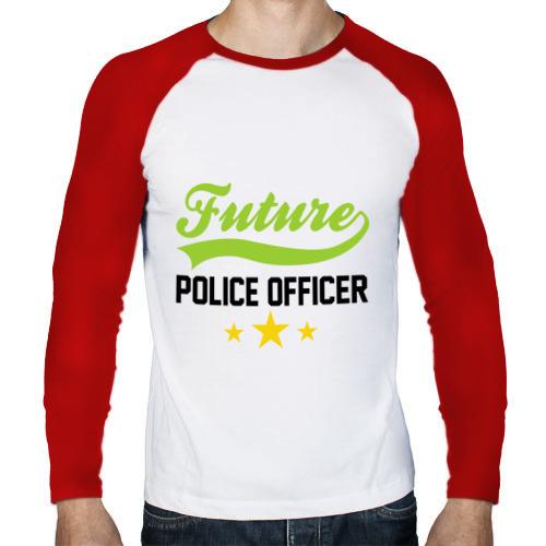 Мужской лонгслив реглан  Фото 01, Будущий офицер полиции