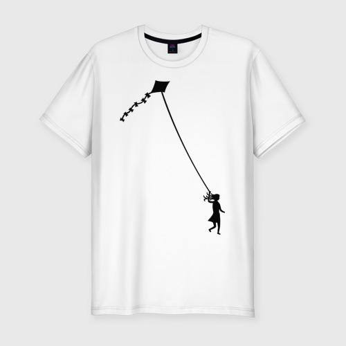 Мужская футболка премиум  Фото 01, Девочка с воздушным змеем