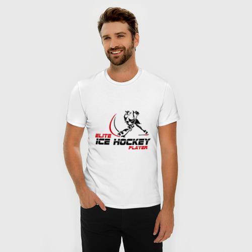 Мужская футболка премиум  Фото 03, Элитный игрок хоккея