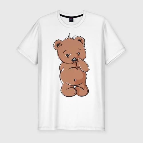 Мужская футболка премиум  Фото 01, стеснительный мишка тедди