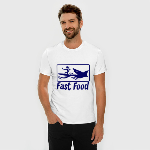 Мужская футболка премиум  Фото 03, fast food - быстрая еда
