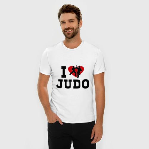 Мужская футболка премиум  Фото 03, Я люблю дзюдо