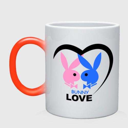 Кружка хамелеон  Фото 01, Bunny Love