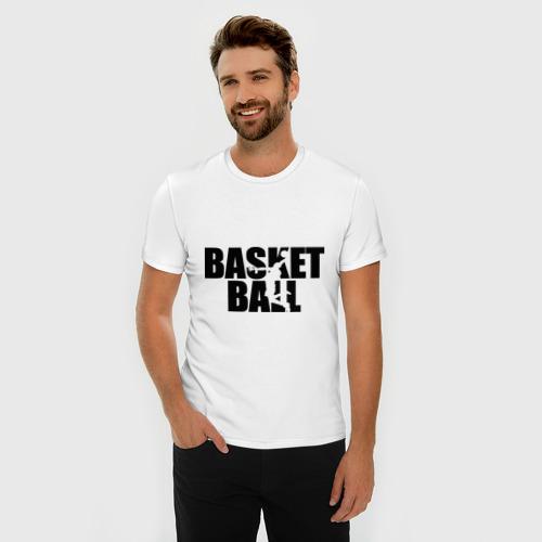 Мужская футболка премиум  Фото 03, Basketball (Баскетбол)