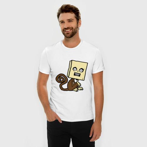 Мужская футболка премиум  Фото 03, сумасшедшая мартышка
