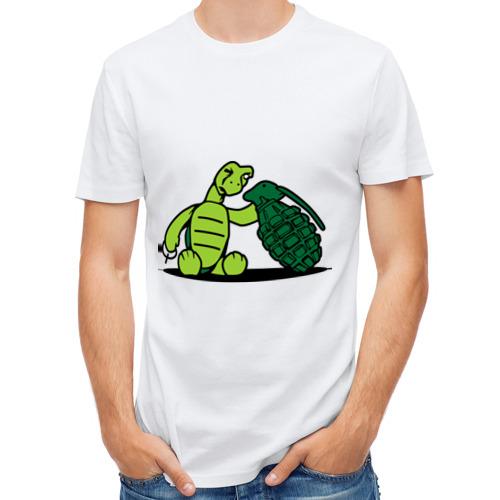 Мужская футболка полусинтетическая  Фото 01, любопытная маленькая черепашка
