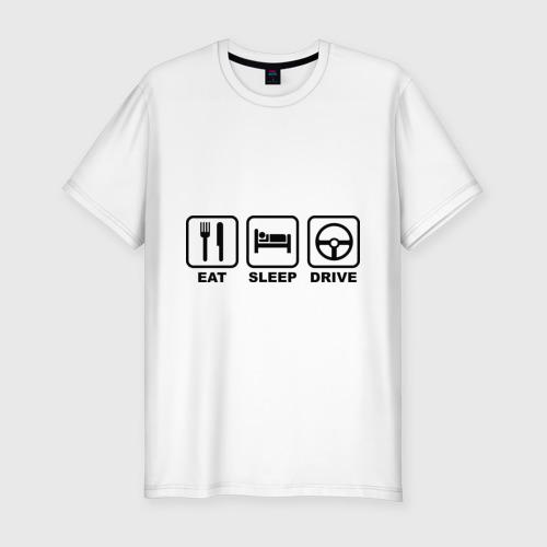 Мужская футболка премиум  Фото 01, Eat Sleep Drive