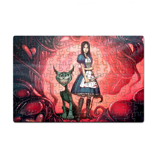 Пазл магнитный 126 элементов Alice Madness Returns, and the Cheshire Cat
