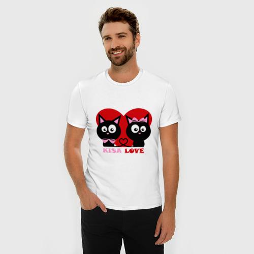 Мужская футболка премиум  Фото 03, Kisa love