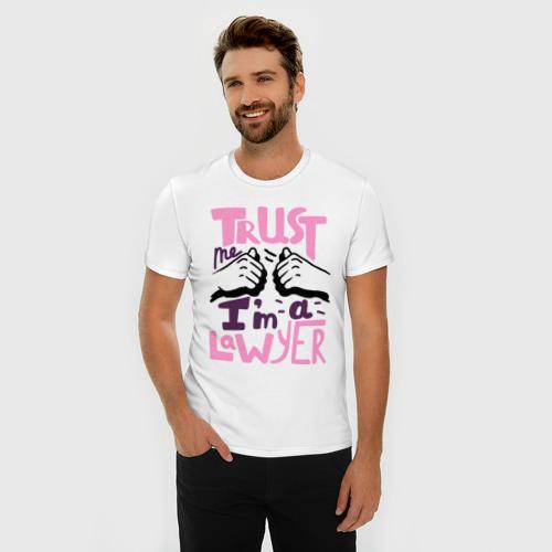 Мужская футболка премиум  Фото 03, Trust me