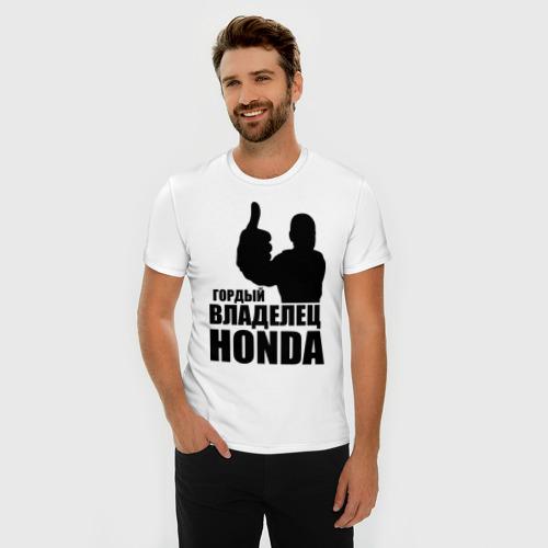 Мужская футболка премиум  Фото 03, Гордый владелец Honda