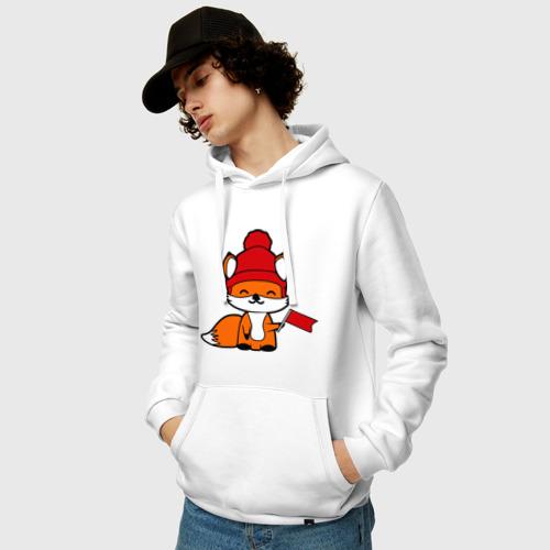 Мужская толстовка хлопок  Фото 03, лисичка с флажком